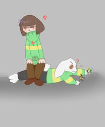 Quick Chara and Asreil drawing by XxSilverKoixX