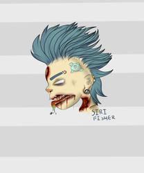 2d Gorillaz  Punk Zombie Finished by XxSilverKoixX