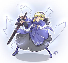 Saber warmup by donsimoni