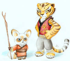 Master Shifu and Tigress by PixelRaccoon