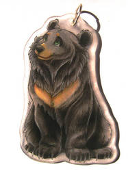Moon bear pendant by PixelRaccoon