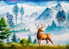 The Mighty Deer by AlexGreenArt