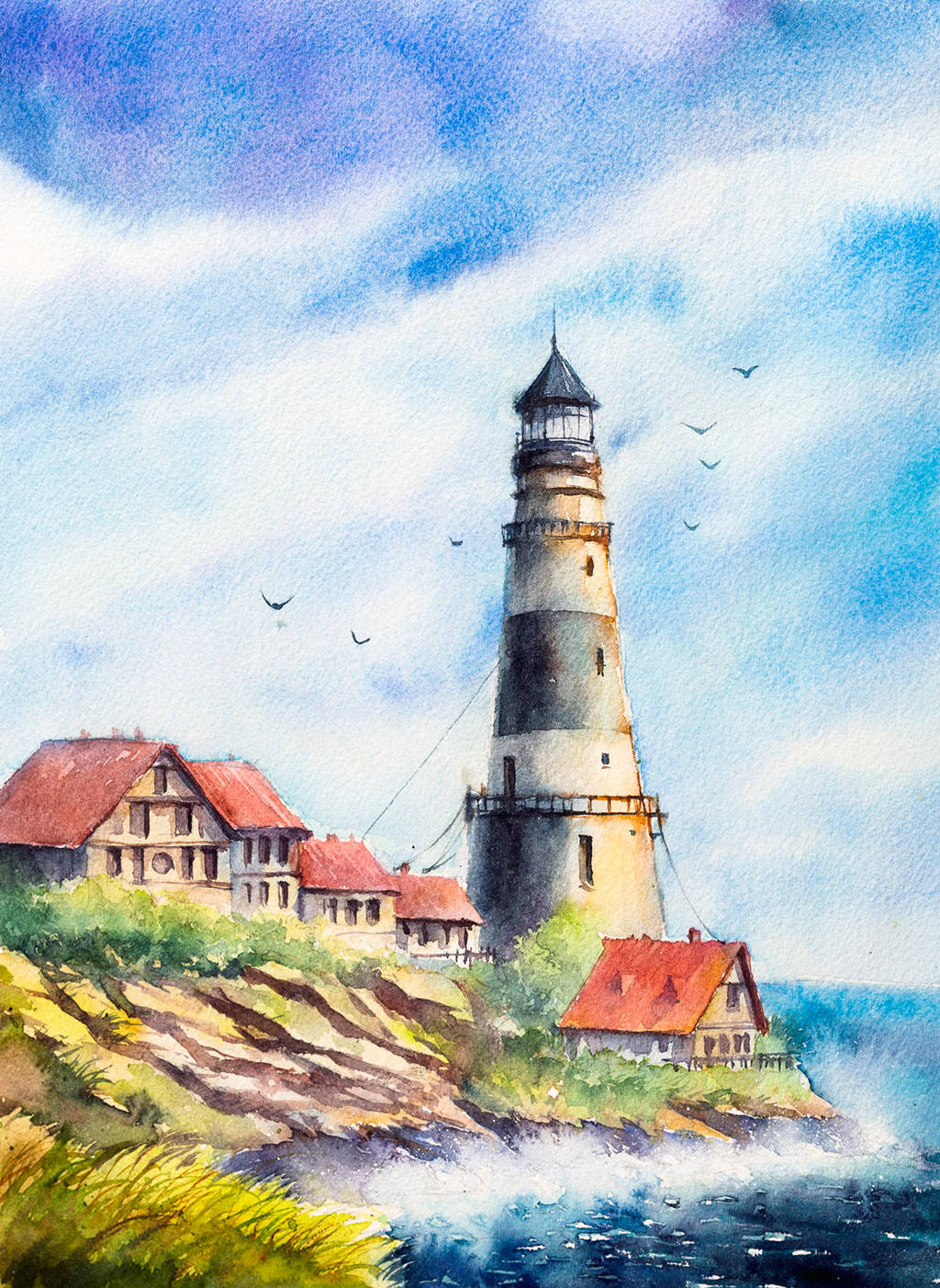 lighthouse by AlexGreenArt