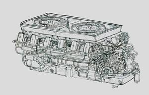 Heavy Tank Engine by NinjaPickle