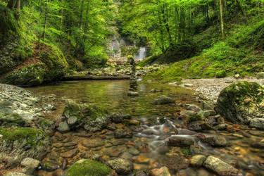 Deep Forest Riverscape by Burtn