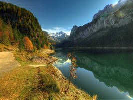 Hiking In Fall by Burtn