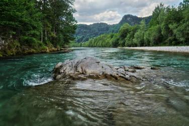 Rock In The River by Burtn