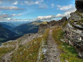 Ruins On The Mountain by Burtn