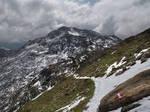 New Snow On The Path by Burtn