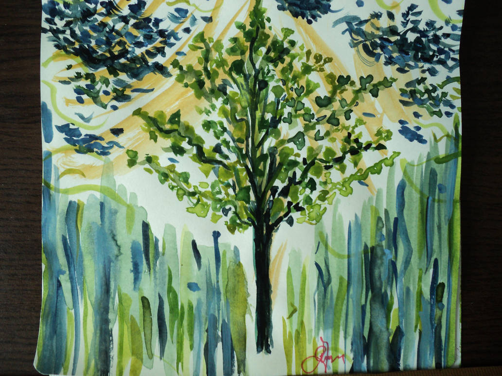 Rainy Ginkgo Tree by RainyGreenTrabant