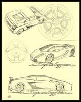 Lamborghini Superleggera Sheet by DigitalGreen