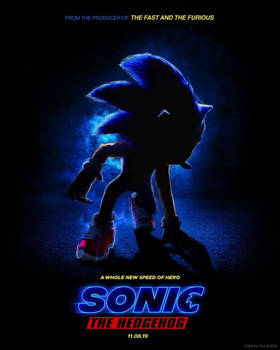 Sonic the Hedgehog Movie Poster by LachlanDingoArchive