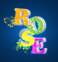 Rose in 3D effect by tinelijah