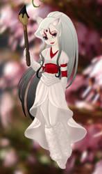 Amaterasu of Okami as a human. Version 2 by ladyphantomofmusic