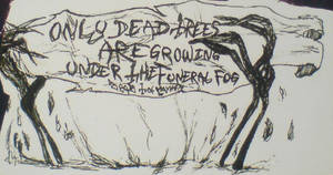 Drawing by Per Yngve Ohlin only dead trees by lilg9
