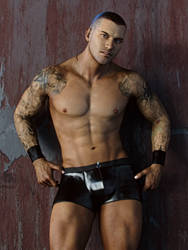 Randy Orton: Hot Muscle by JavierMicheal