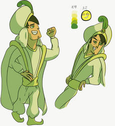 Requests: Trent (Total Drama) in Aladdin's clothes by EvaJulia