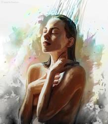 Wash Away Your Worries by koel-art