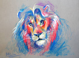 Mighty Lion by koel-art