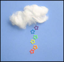 Rain Rainbow Stars by ilyaHEART