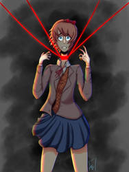 Sayori isn't very happy\\DDLC by ZeldaThePirateSim