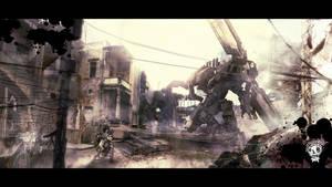 Robot war by LiquorArt