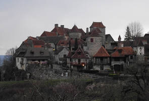 Loubressac 01 medieval village by HermitCrabStock
