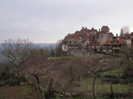 Loubressac 02 medieval village by HermitCrabStock
