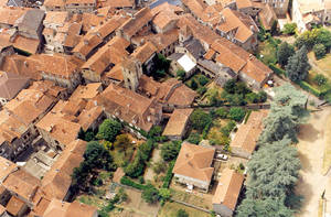 Figeac medieval town full view by HermitCrabStock
