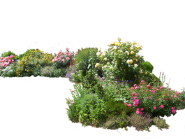 Flowered garden png 02 by HermitCrabStock