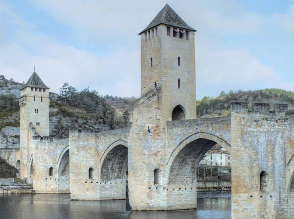 Medieval bridge - Pont Valentre - Cahors 03 by HermitCrabStock