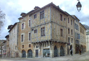 Medieval houses - Cahors 14 by HermitCrabStock