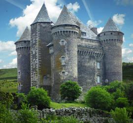 Medieval Castle - Chateau du Bousquet - Aveyron by HermitCrabStock