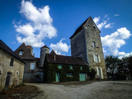 St-Sozy 03 - Medieval castle by HermitCrabStock