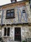St Cirq Lapopie 03 - Medieval house by HermitCrabStock
