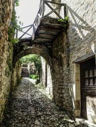 St Cirq Lapopie 05 - Medieval street by HermitCrabStock
