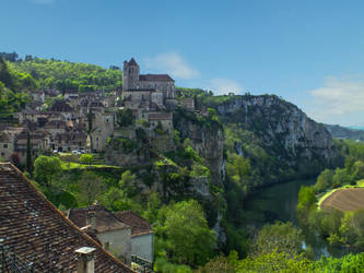 St Cirq Lapopie 02 - Full view by HermitCrabStock