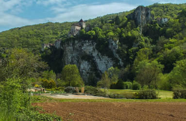 St Cirq Lapopie 01 - Full view by HermitCrabStock