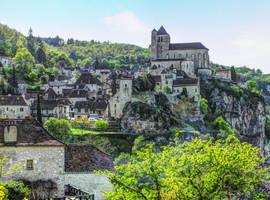 St Cirq Lapopie 14 - Full View by HermitCrabStock
