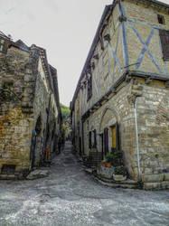 St Cirq Lapopie 18 - Medieval street by HermitCrabStock