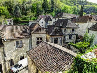 St Cirq Lapopie 21 - Medieval village by HermitCrabStock