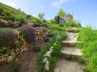 St Cirq Lapopie 23 - Garden by HermitCrabStock