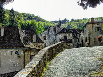 St Cirq Lapopie 22 - Medieval street by HermitCrabStock