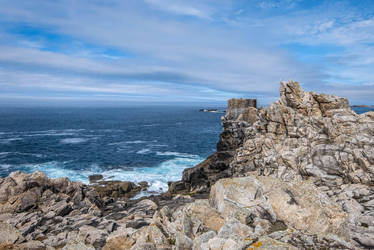 Ouessant Island 04 - Ruined Tower on a cliff by HermitCrabStock