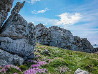 Ouessant Island 18 -  Rocks and Heather by HermitCrabStock