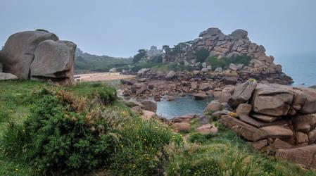 Brittany 34 - Pink Granite Coast by HermitCrabStock