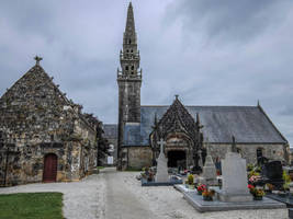 Brittany 40 - Church and Graveyard by HermitCrabStock