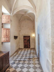 Chateau du Montal 007 - Corridor by HermitCrabStock