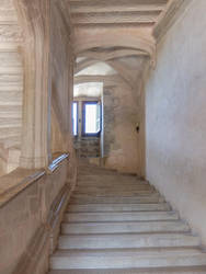 Chateau du Montal 020 - Staircase by HermitCrabStock