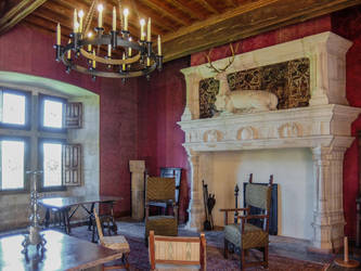Chateau du Montal 019 - Fire Place by HermitCrabStock